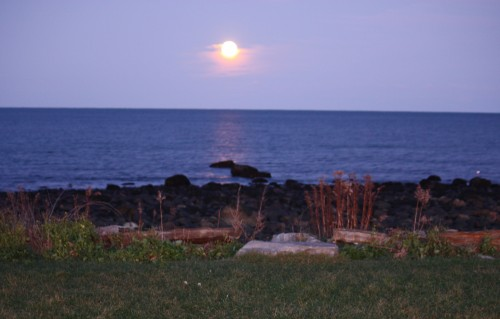 Rye Harbor Full Moon